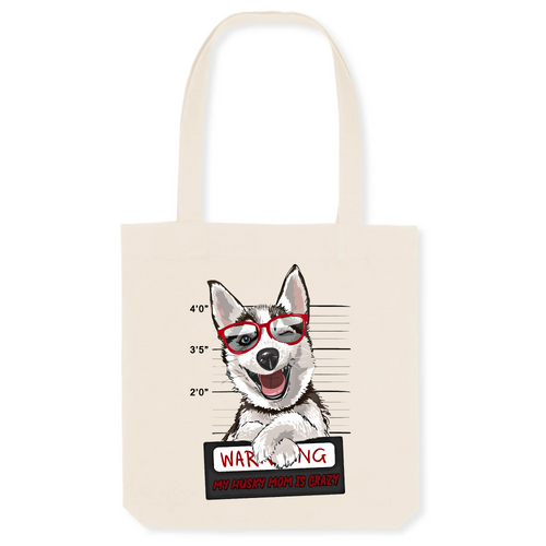 Sac Husky Warning Rouge - Huskymom