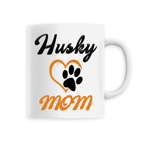 Mug Husky Mom Orange - Huskymom