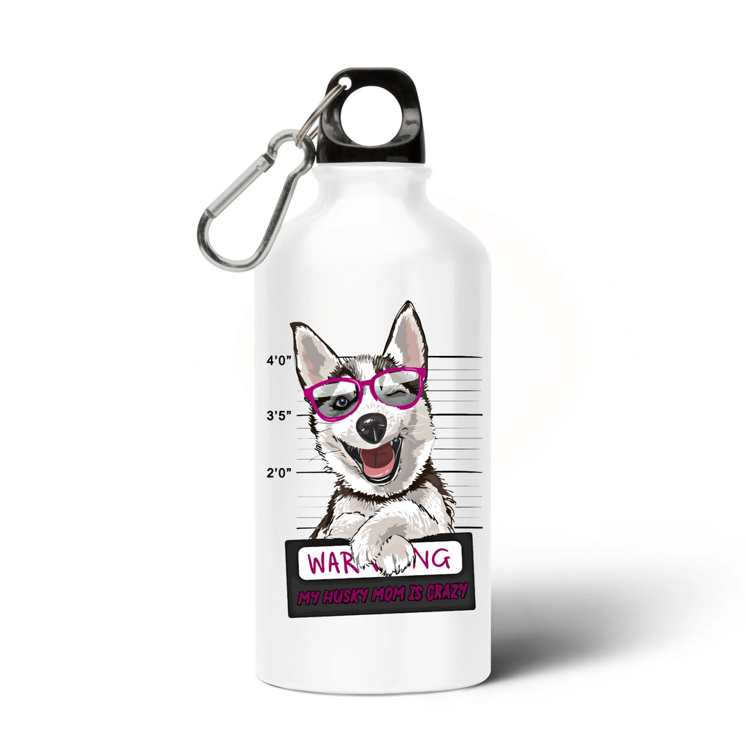 Gourde Husky Warning Rose - Huskymom