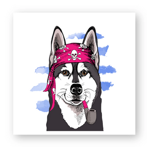 Sticker Husky Pirate Rose - Husky Academy