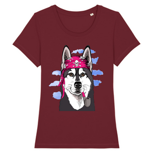 T-shirt Husky Pirate Rose - Huskymom