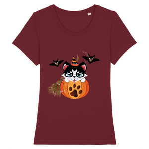 T-shirt Husky in Pumpkin - Bordeaux - Huskymom