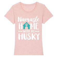 Charger l'image dans la galerie, T-shirt Husky Home Turquoise - Rose - Huskymom