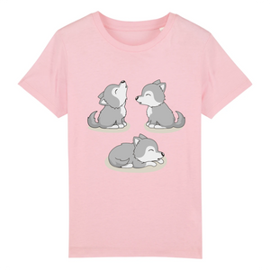 T-shirt Enfant Husky Mini Trio Rose - Husky-Academy.fr