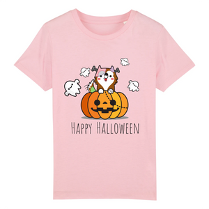 T-shirt Enfant Happy Halloween Rose - Husky-Academy.fr