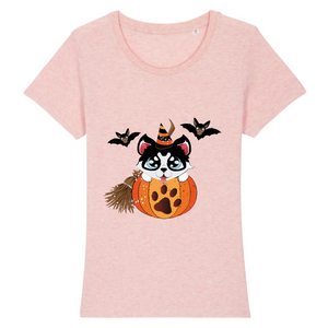 T-shirt Husky in Pumpkin - Rose - Huskymom