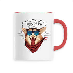 Mug Rouge Happy Dog Day - Husky-Academy.fr