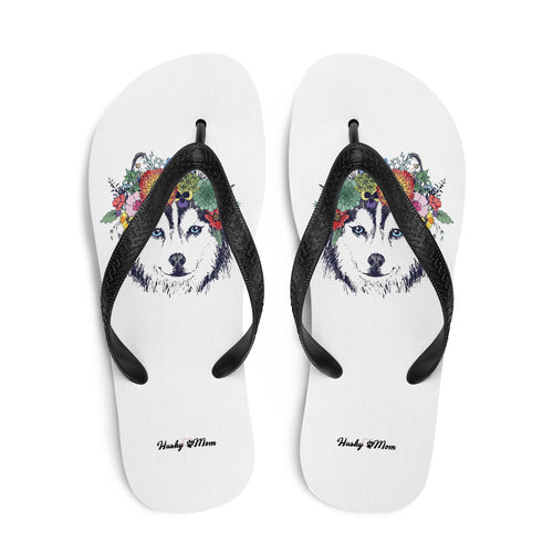 Tongs Husky Flower - Huskymom