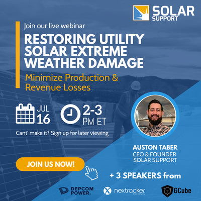 Webinar - Restoring Utility PV After Extreme Weather Damage