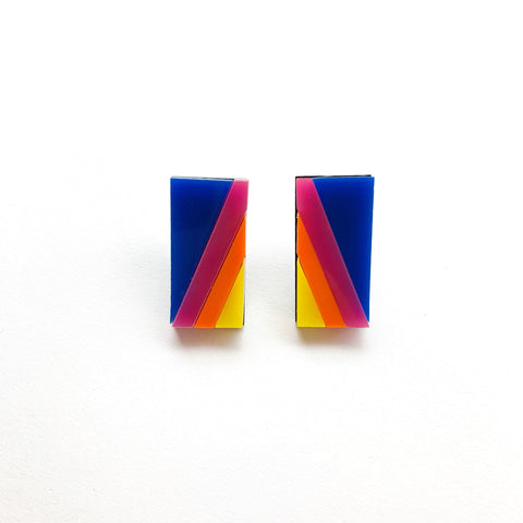 Retro Stripes Studs