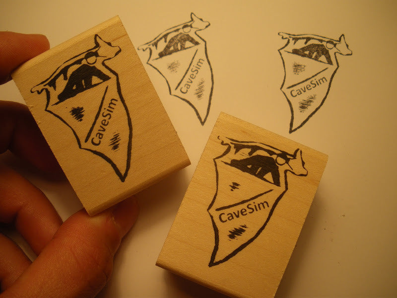 CaveSim rubber  bat stamp