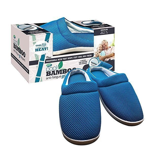 Pantoufles en bambou anti-fatigue