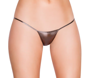 127LQ - Metallic Low Rise String Back Bottom