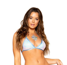 Load image into Gallery viewer, 3713 - Sequin Triangle Bikini Top
