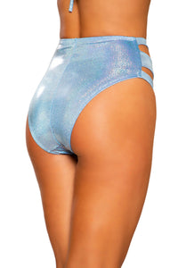 3726 - Cutout High-Waisted Shorts with Zipper Closure