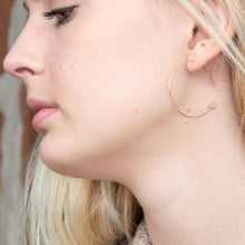 Load image into Gallery viewer, 14 Karat Rose Gold Plated Threader Dot End Earring