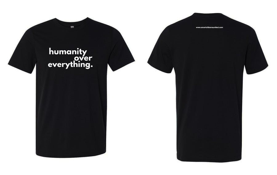 #HumanityOverEverything Men's Black Tee