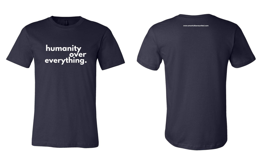 #HumanityOverEverything Men's Navy Tee