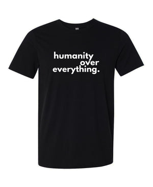 HumanityOverEverything Men's Cotton T-Shirt