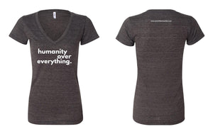HumanityOverEverything Women's Cotton T-Shirt