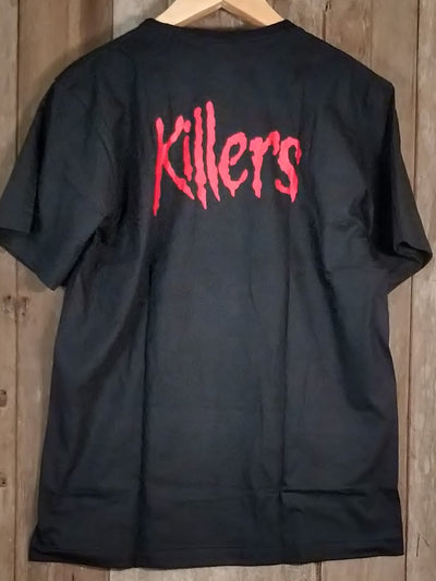 Iron Maiden Killers Men's Large Short Sleeve 100% Cotton New Vintage Band T Shirt