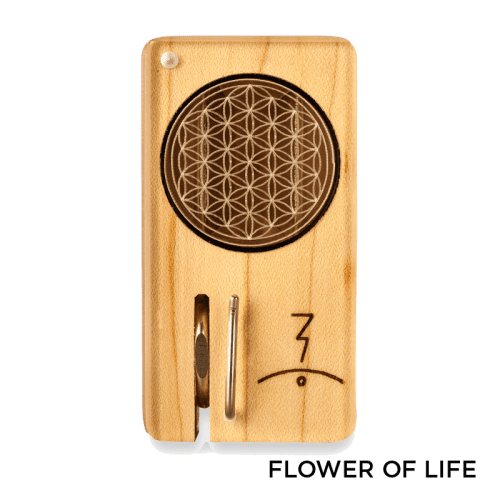 Magic Flight Launch Box with Laser Etched Design - Flower of Life