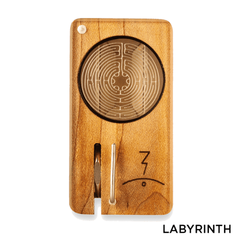 Magic Flight Launch Box with Laser Etched Design - Labyrinth