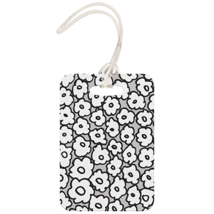 Happy White Flowers | Luggage Tag