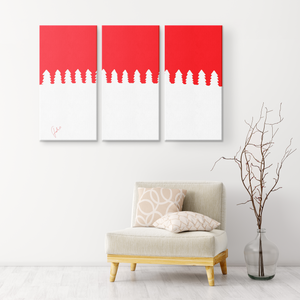 White Trees | 3 Piece Canvas