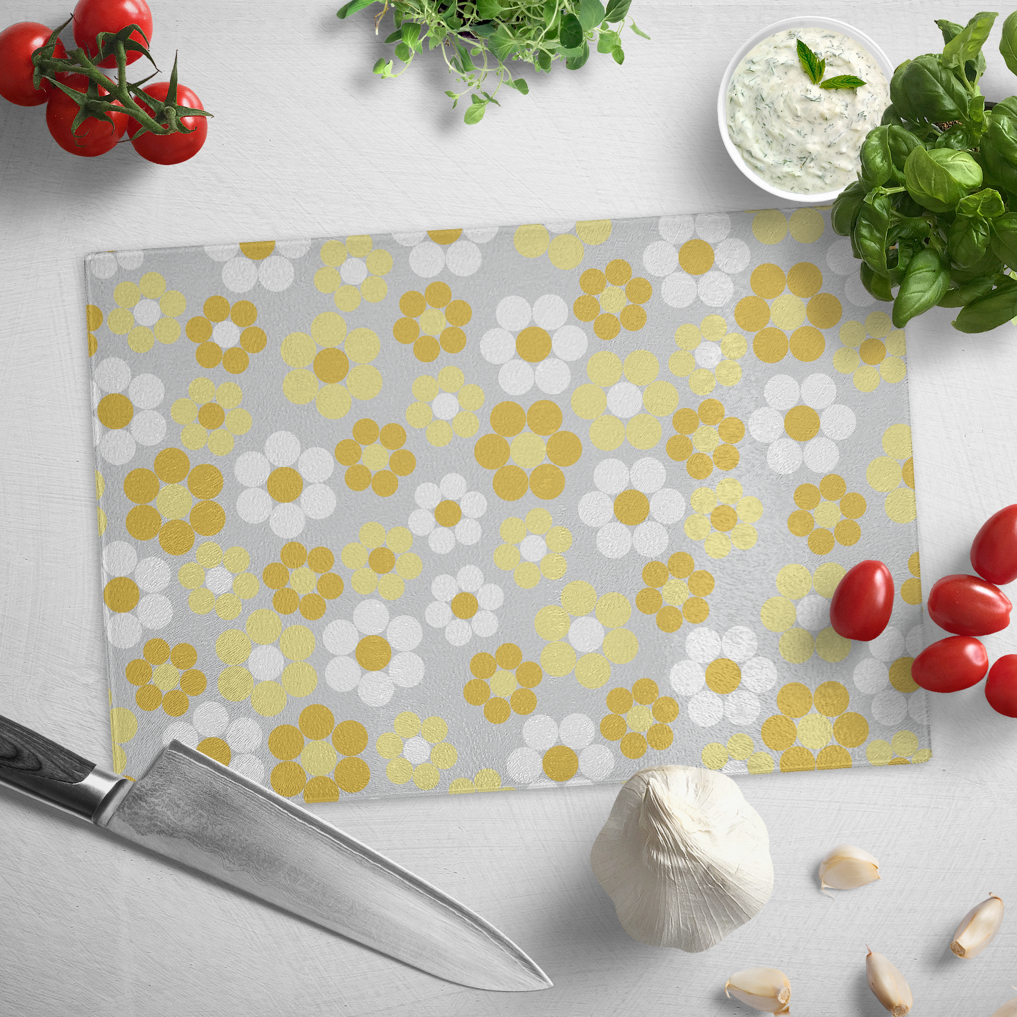 Midsummer | Glass cutting board