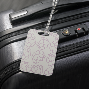 Pink Pastel Flowers | Luggage Tag