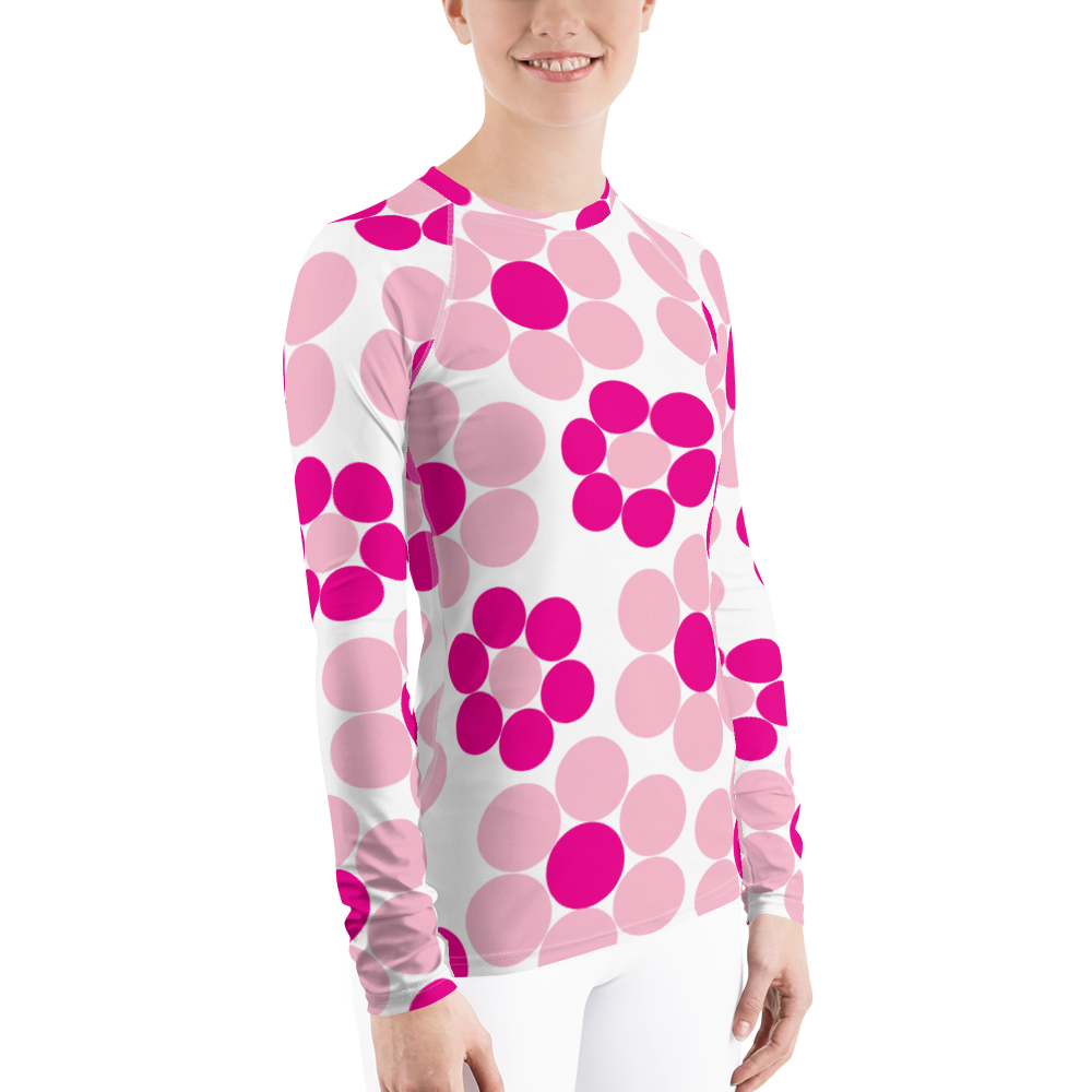 Happy Flowers Ornament | Women's Rash Guard