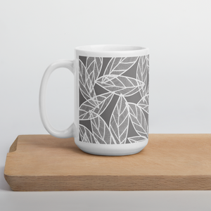 Messy White Leaves | Mug