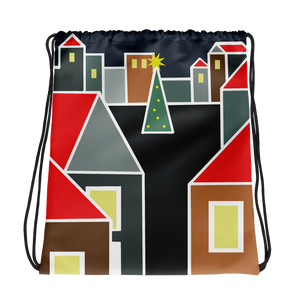 December Eve Red | Drawstring Bag
