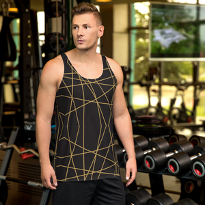 Golden Ornament Lines | Unisex Tank Top
