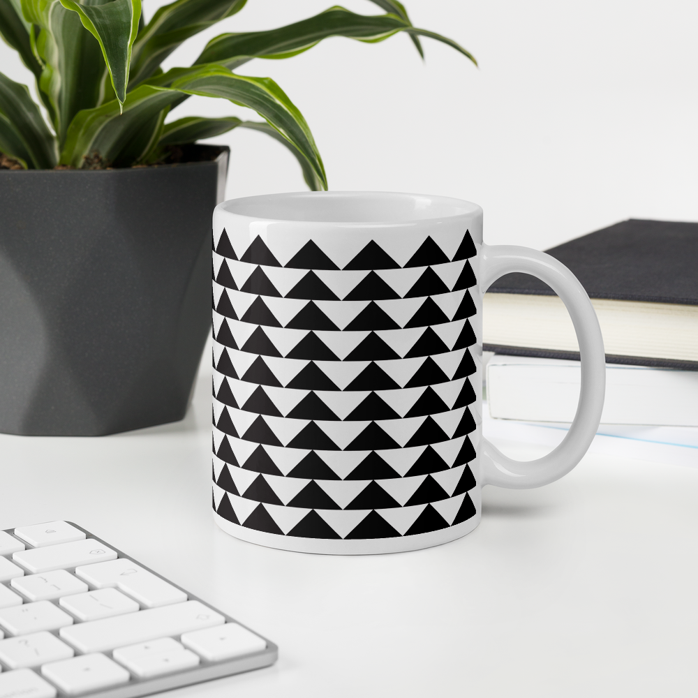 Black and White Triangles | Mug