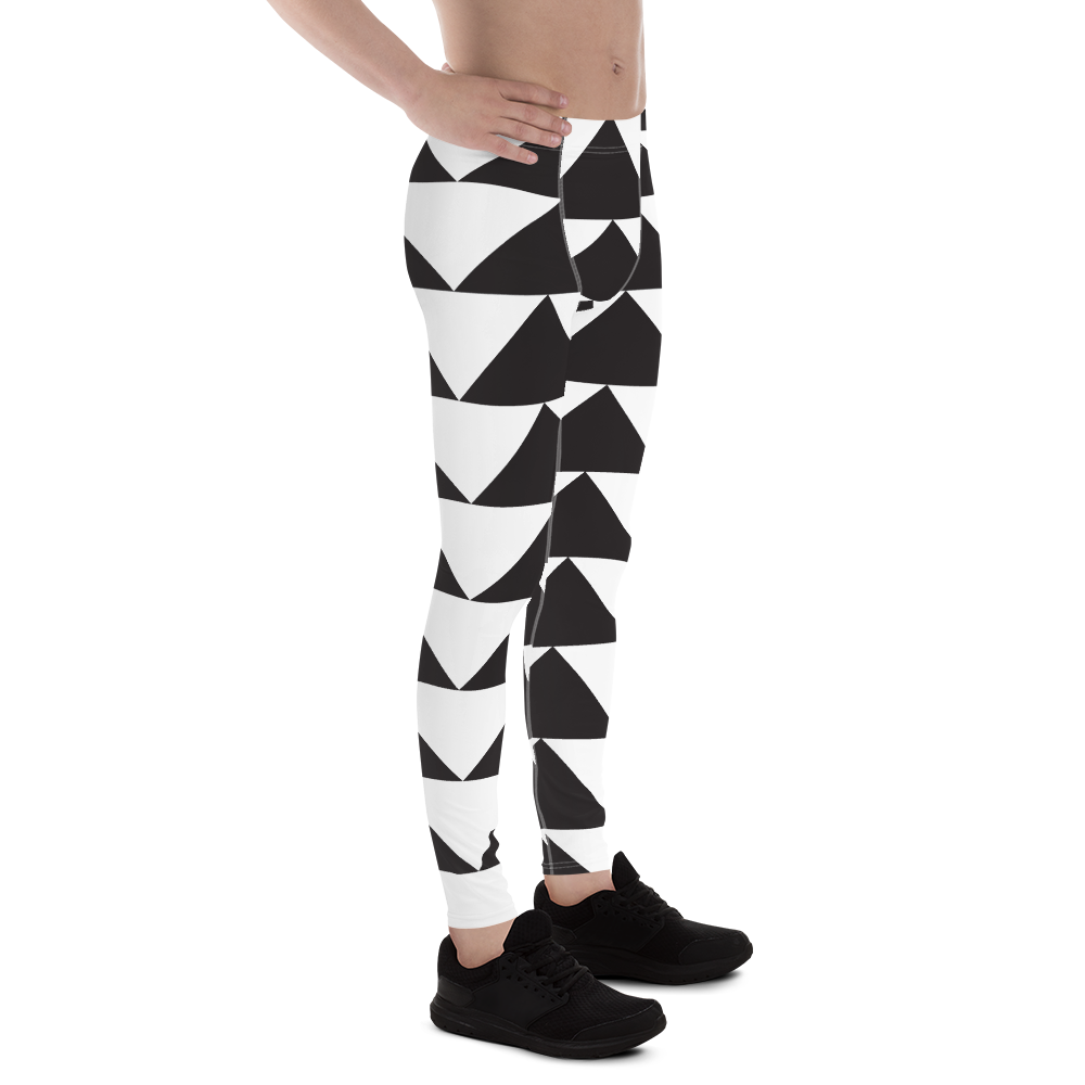 Black and White Triangles | Men's Leggings