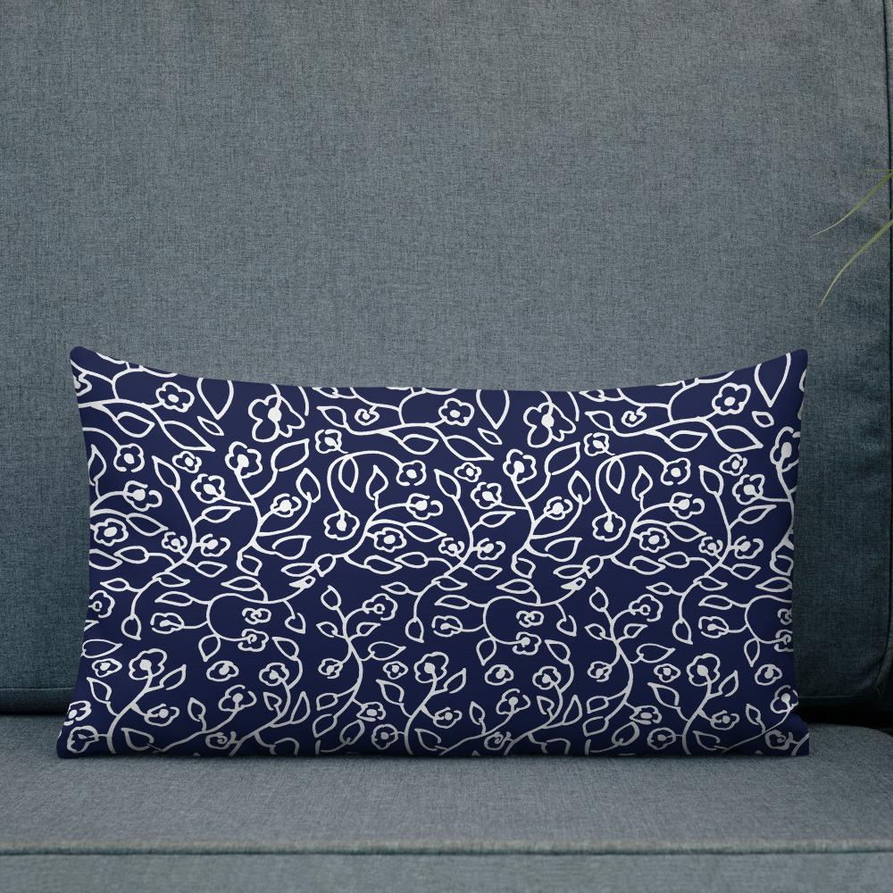 White small flowers | Pillow