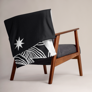 Stars and Trees Black | Throw Blanket