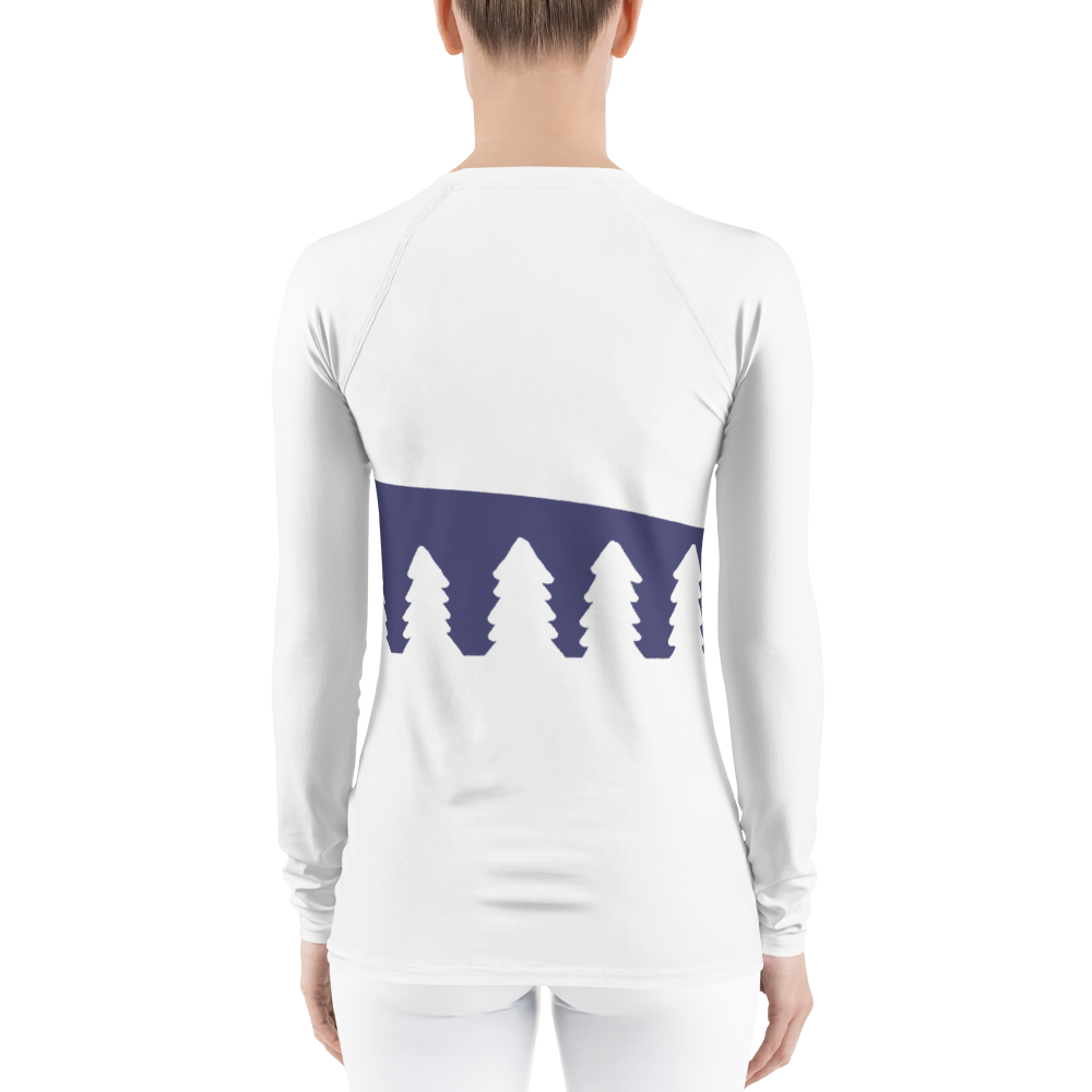 Home In White Forest | Women's Rash Guard
