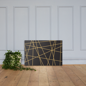 Golden Ornament Lines | Canvas