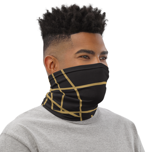 Golden Ornament Lines | Neck Gaiter