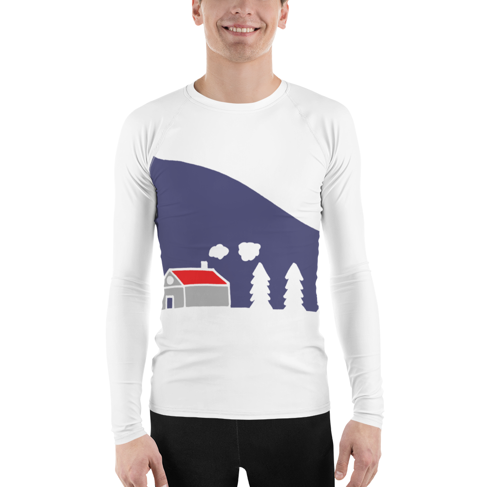 Home In White Forest | Men's Rash Guard