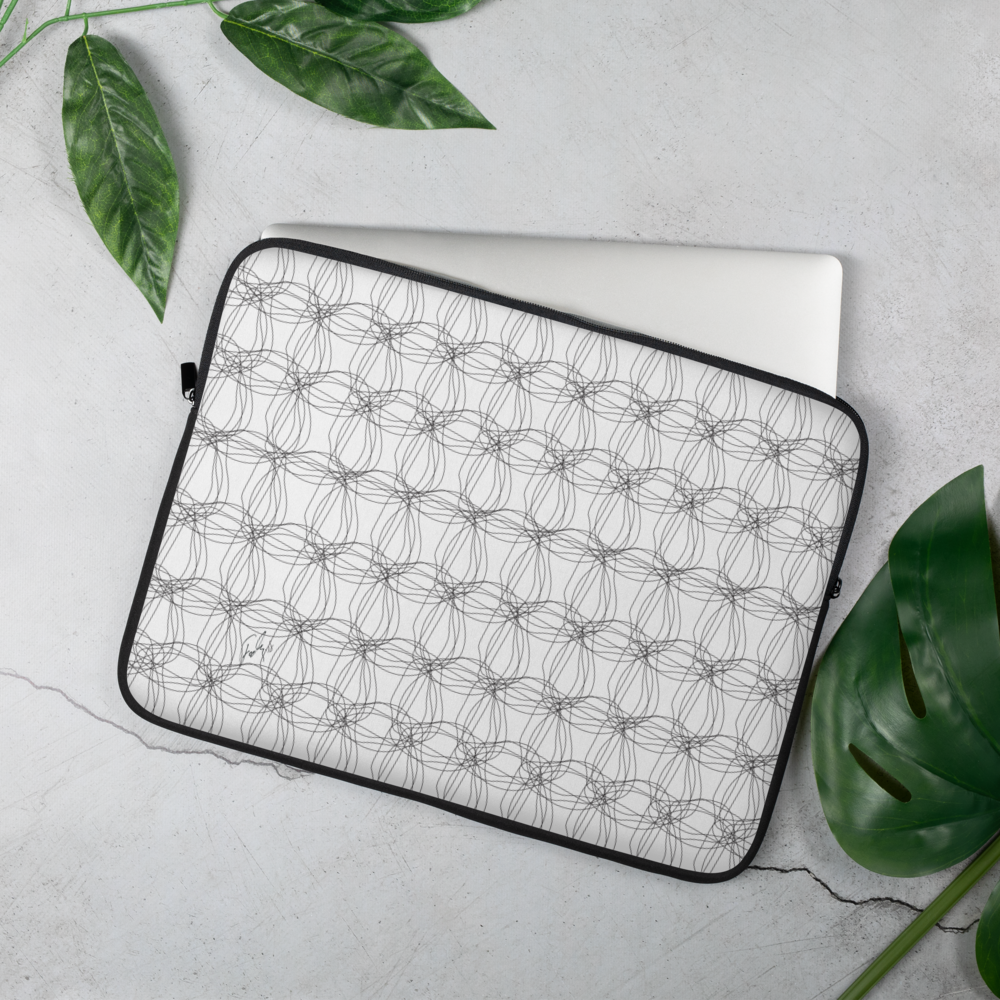 Ornament Graphic Flowers | Laptop Sleeve