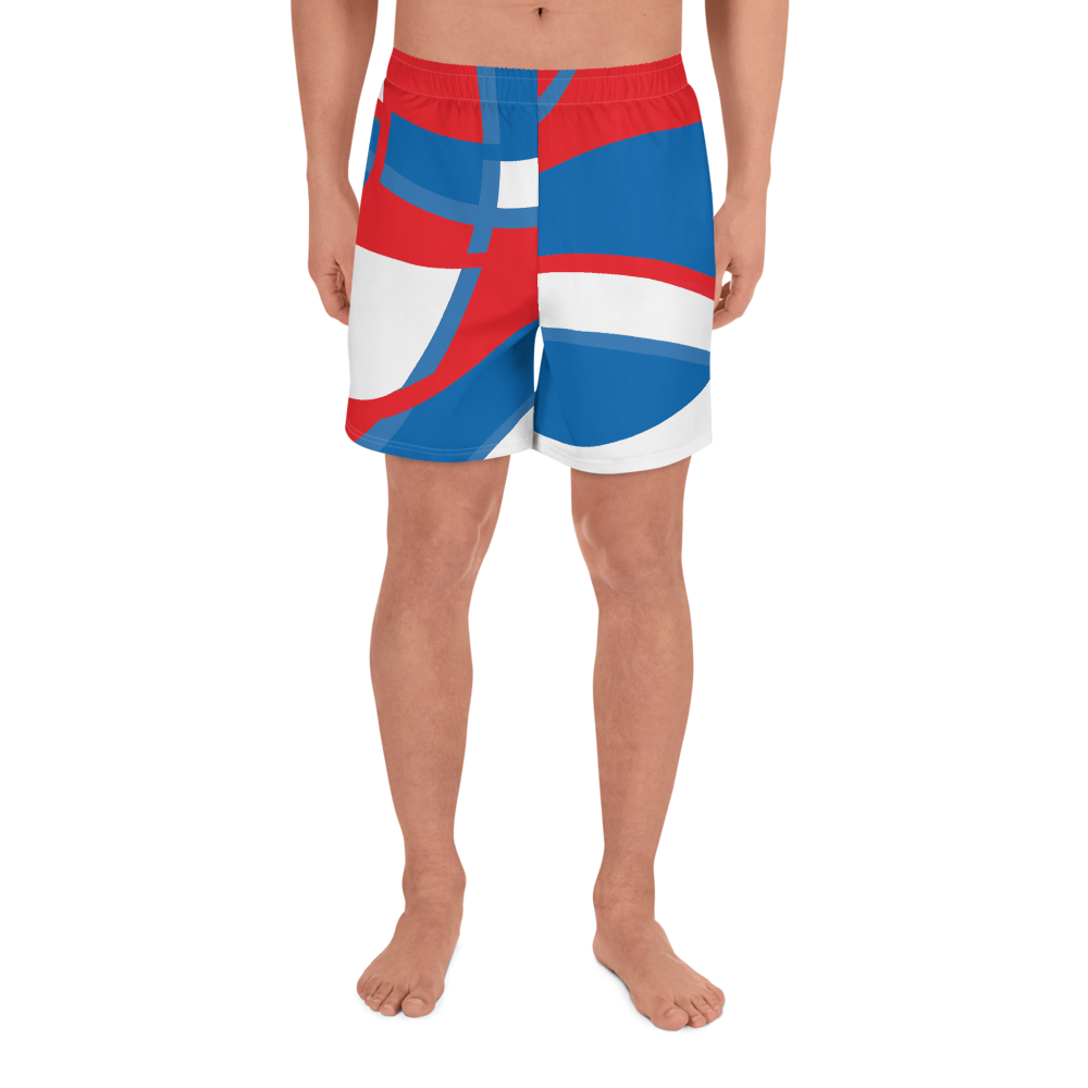 Red, White and Blue | Men's Athletic Long Shorts