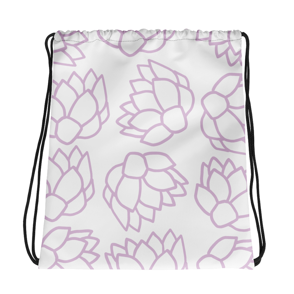 Pink Pastel Flowers | Drawstring Bag
