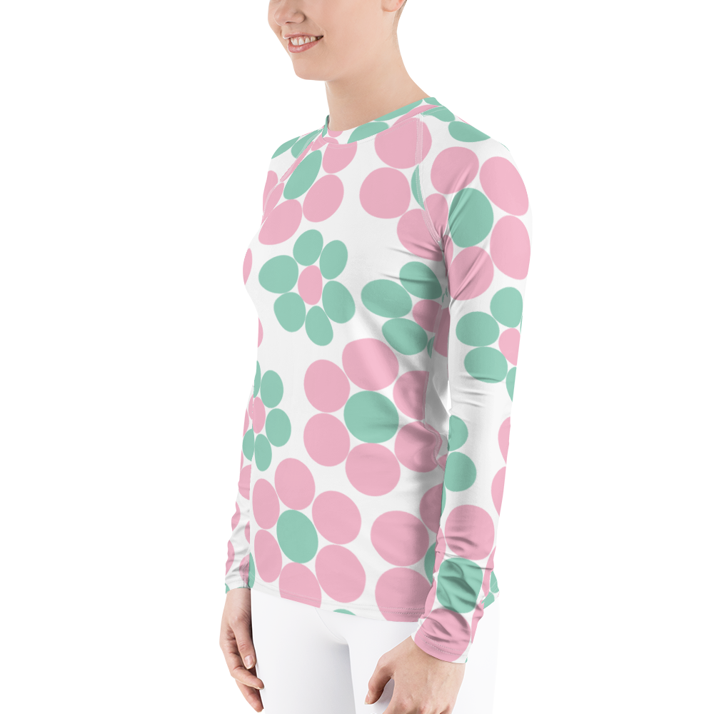 Happy Pastel Flowers | Women's Rash Guard