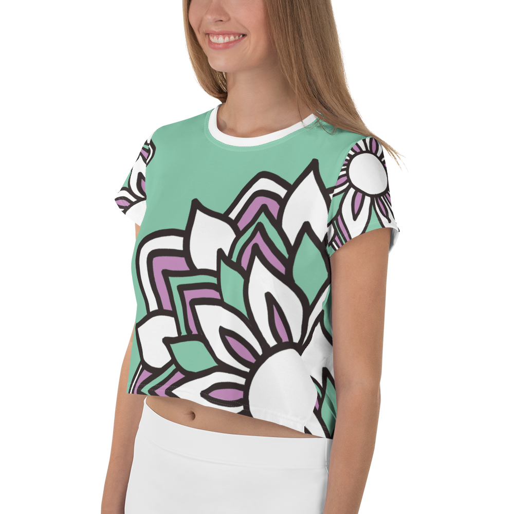 Smiling Flowers | Crop Tee