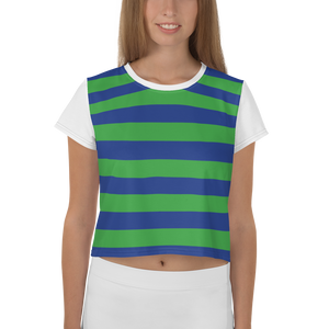 Green and Blue | Crop Tee