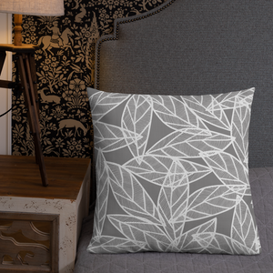 Messy White Leaves | Pillow